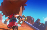 See World of Final Fantasy's guest Kingdom Hearts summon Sora in action