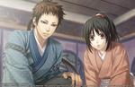Hakuoki: Kyoto Winds screenshots introduce Nagakura, Sanan, and Yamazaki