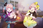 Atelier Lydie & Suelle screenshots introduce Mireille, Grace, Onett, and combination arts