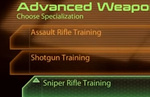 Mass Effect 2 Advanced Weapon Training - what to choose