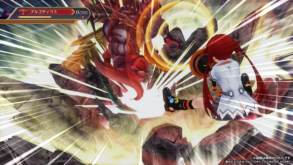 Hyperdimension Neptunia Victory II battle system screenshots