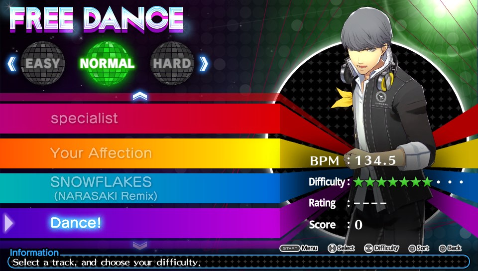 persona 4 dancing all night how to change difficulty