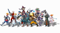 Front banner characters