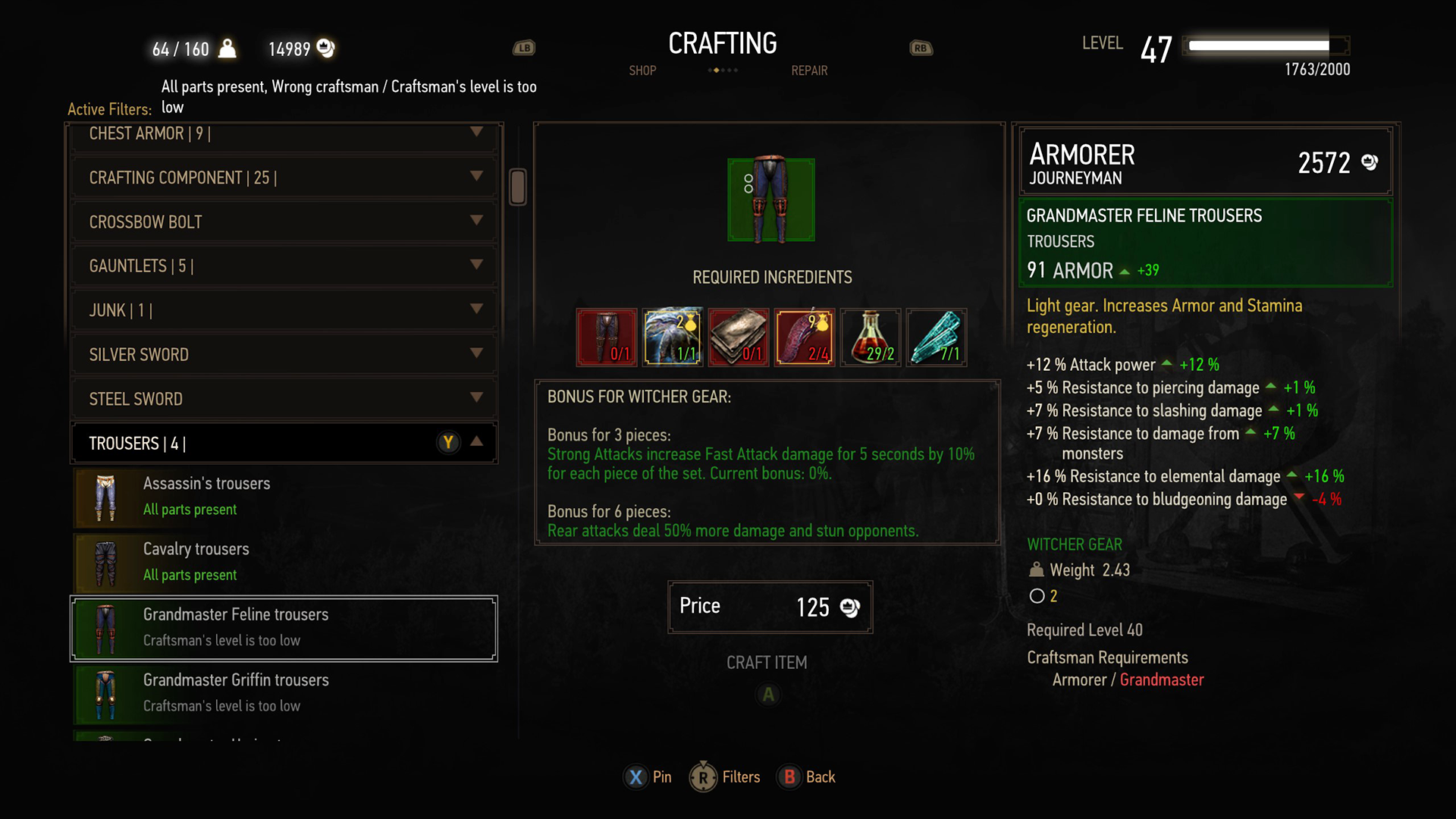 A Look At The Witcher 3 S Menu Overhaul Rpg Site