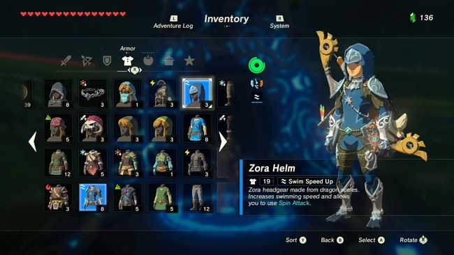 The Legend Of Zelda Breath Of The Wild Guide Armor Set