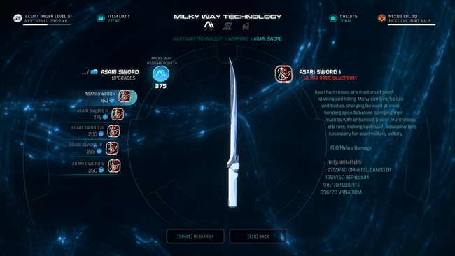mass effect andromeda how to change weapons