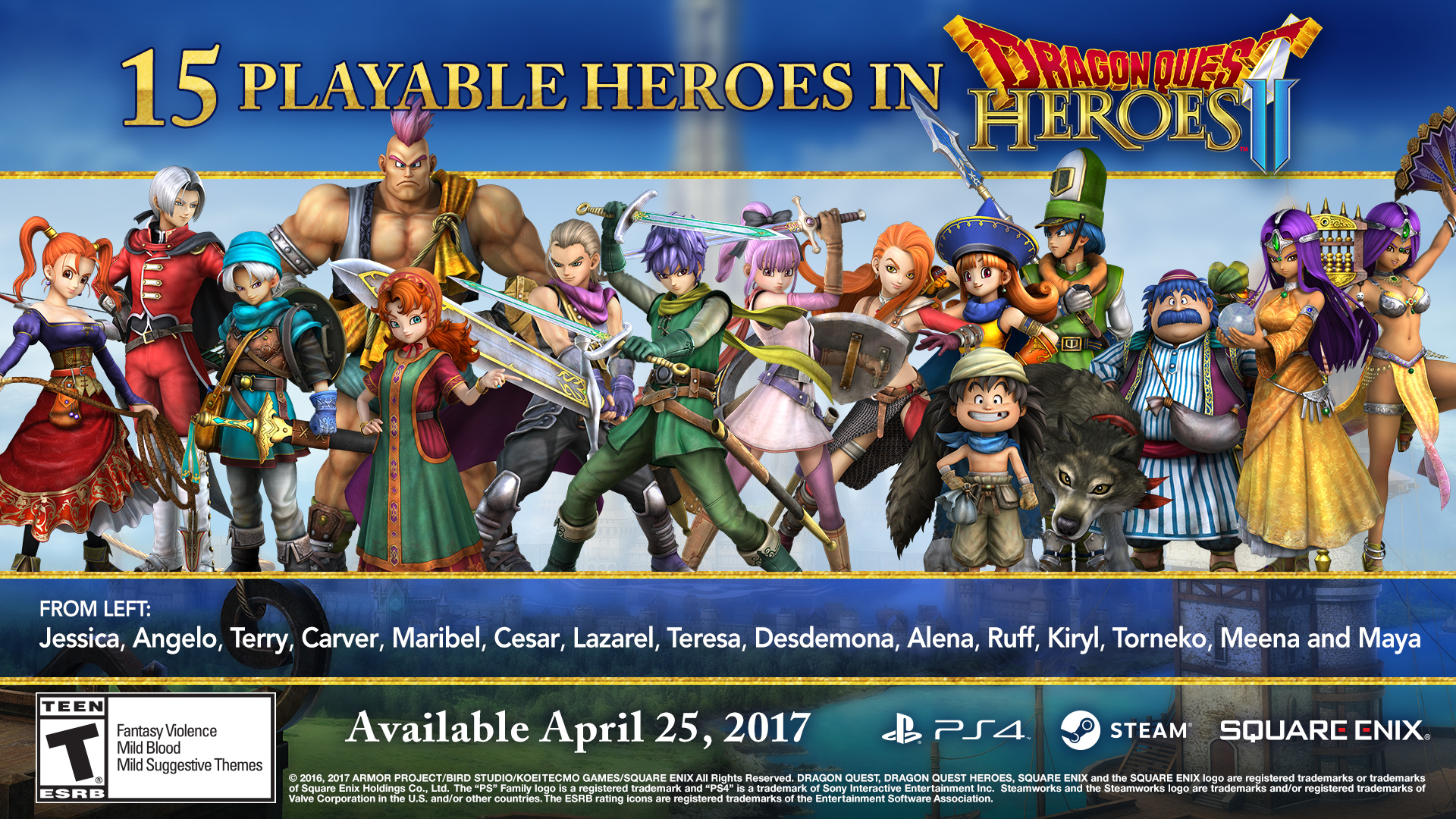 Dragon Quest Heroes II - Meet the Heroes: Alena, Kiryl, & Torneko