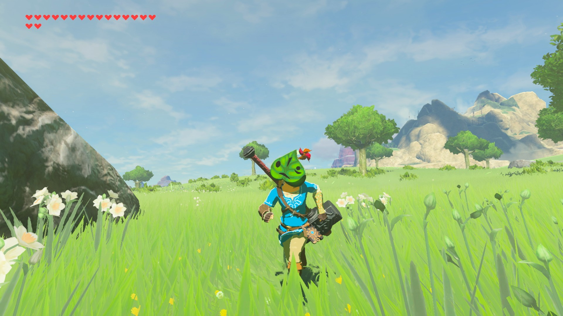 Korok Mask / The korok mask is found in a chest in the lost woods.