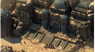 Pillars deadifre desert temple