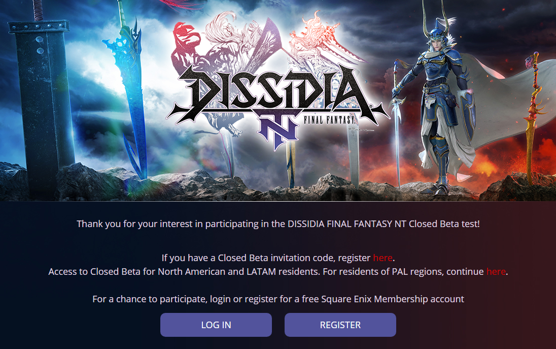 Dissidia Final Fantasy NT Closed Beta Test Announced, Registrations Now Open