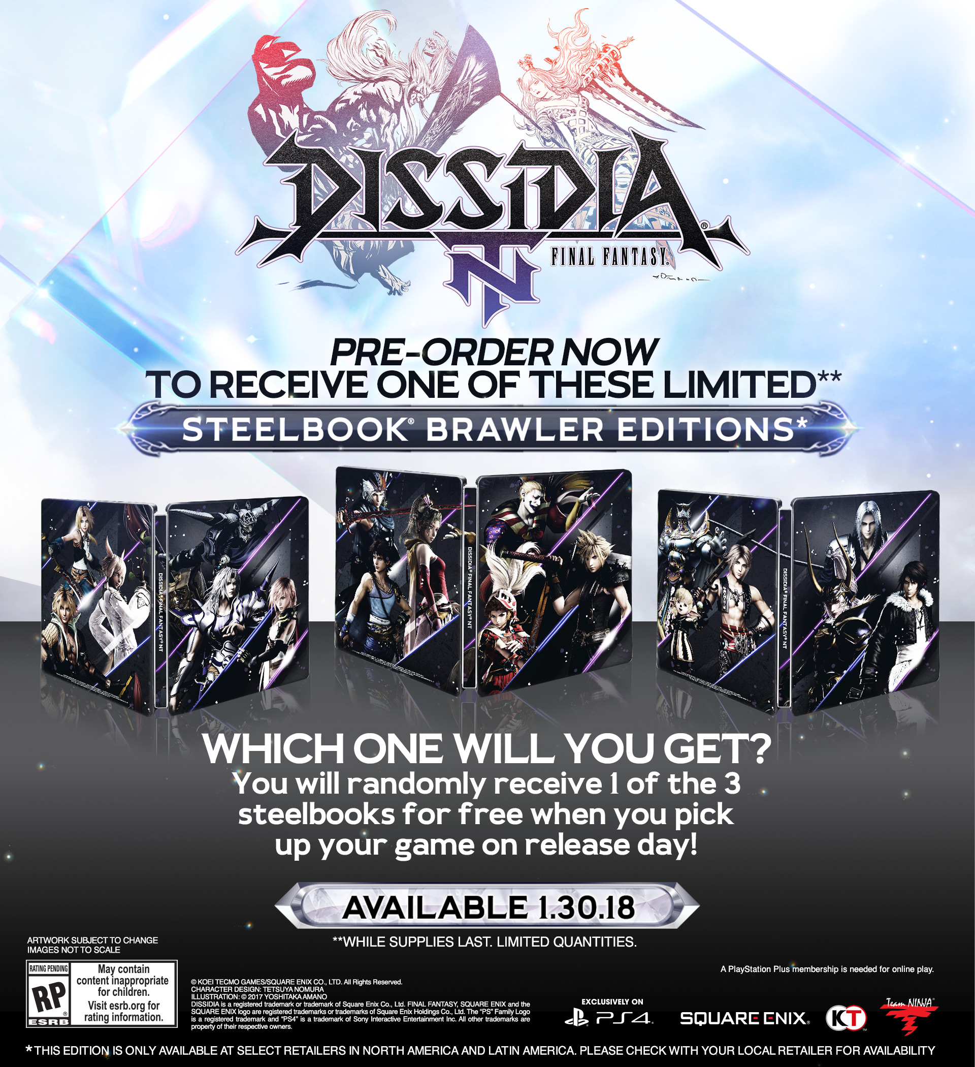 Dissidia Final Fantasy NT Is Coming To PlayStation 4 In Early 2018