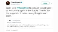 Casey hudson twitter bioware masseffect