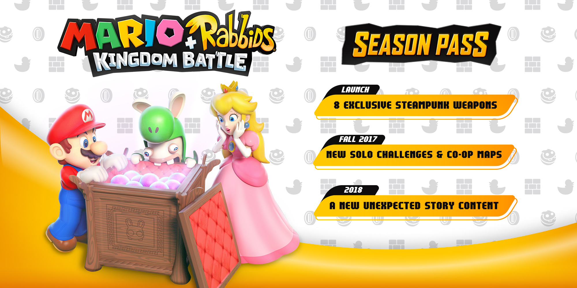 Mario + Rabbids Kingdom Battle Season Pass announced