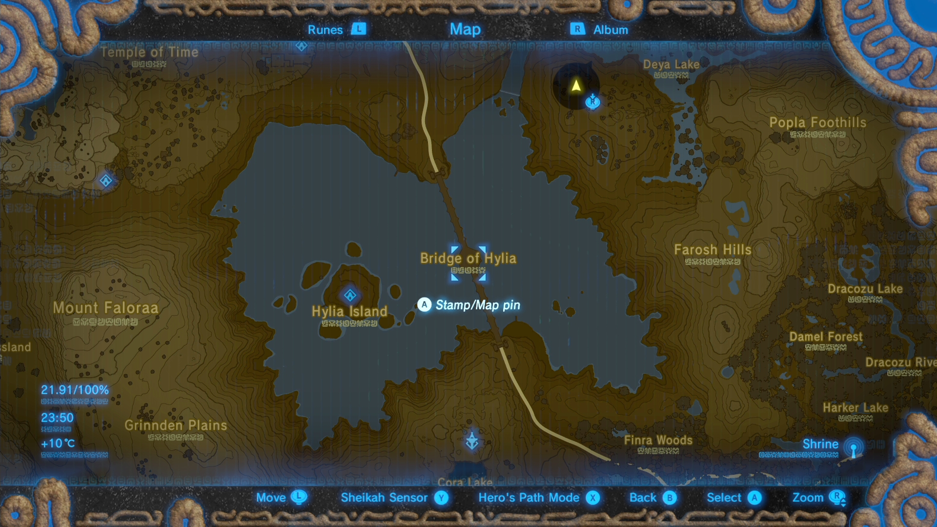 Zelda Botw Shrine Map >> Zelda: Breath of the Wild Xenoblade 2 quest guide: find the shooting stars to get the Salvager ...