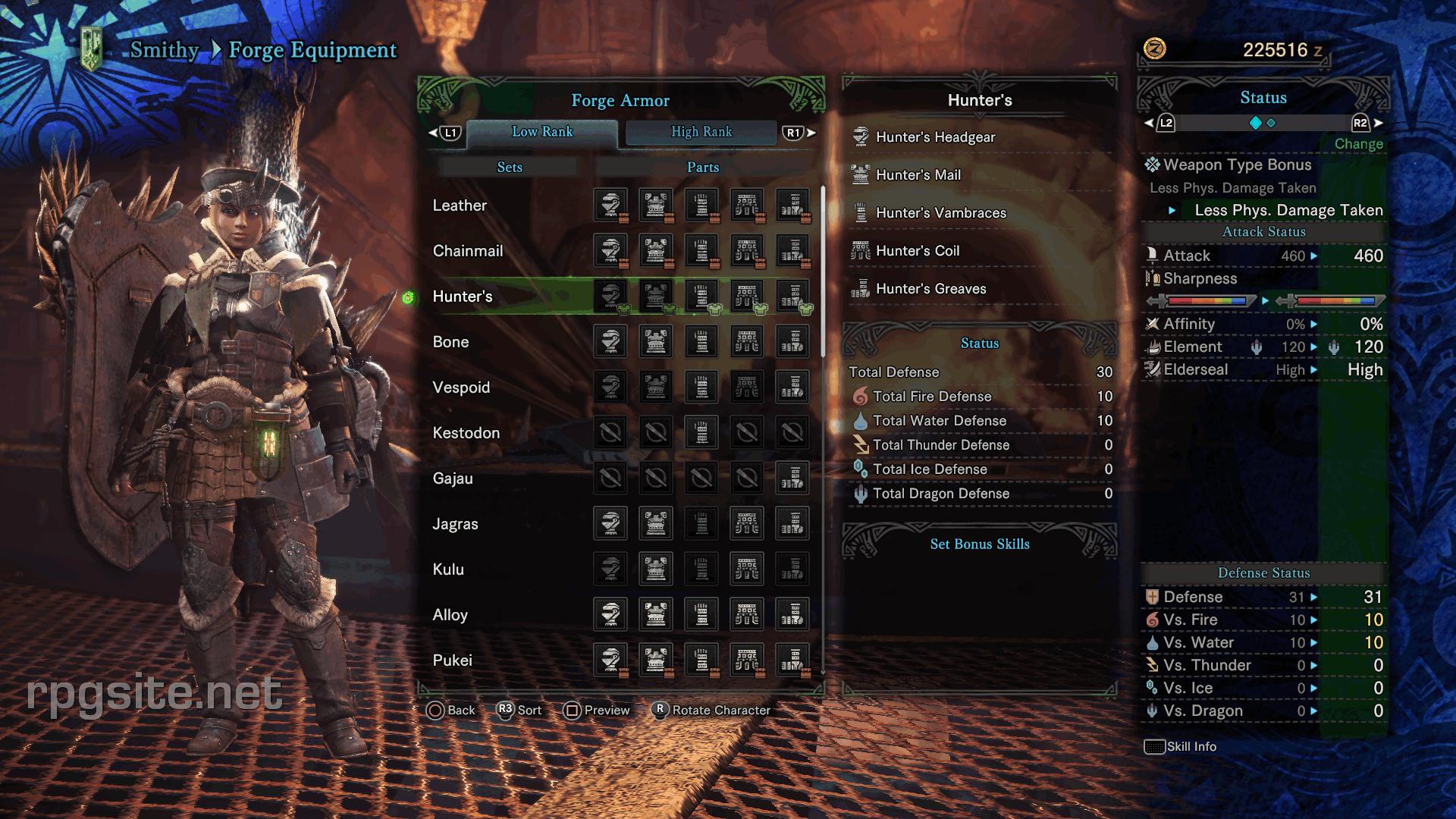 Monster Hunter World Female Armor Sets All Low Rank Female Armor
