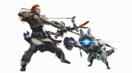 Monster hunter world aloy horizon zero dawn armor bow