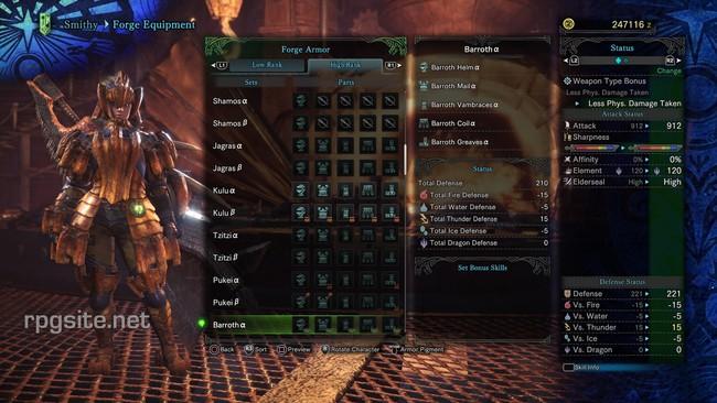 Monster Hunter World High Rank Female Armor Sets: all high