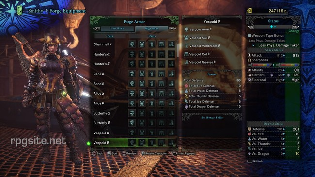 Monster Hunter World High Rank Female Armor Sets All High Rank