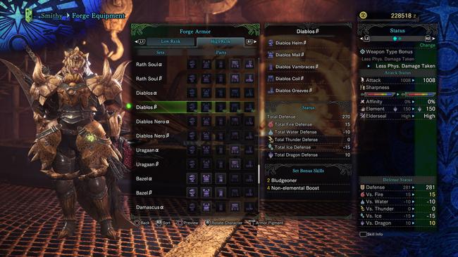 Monster Hunter World High Rank Female Armor Sets: all high rank