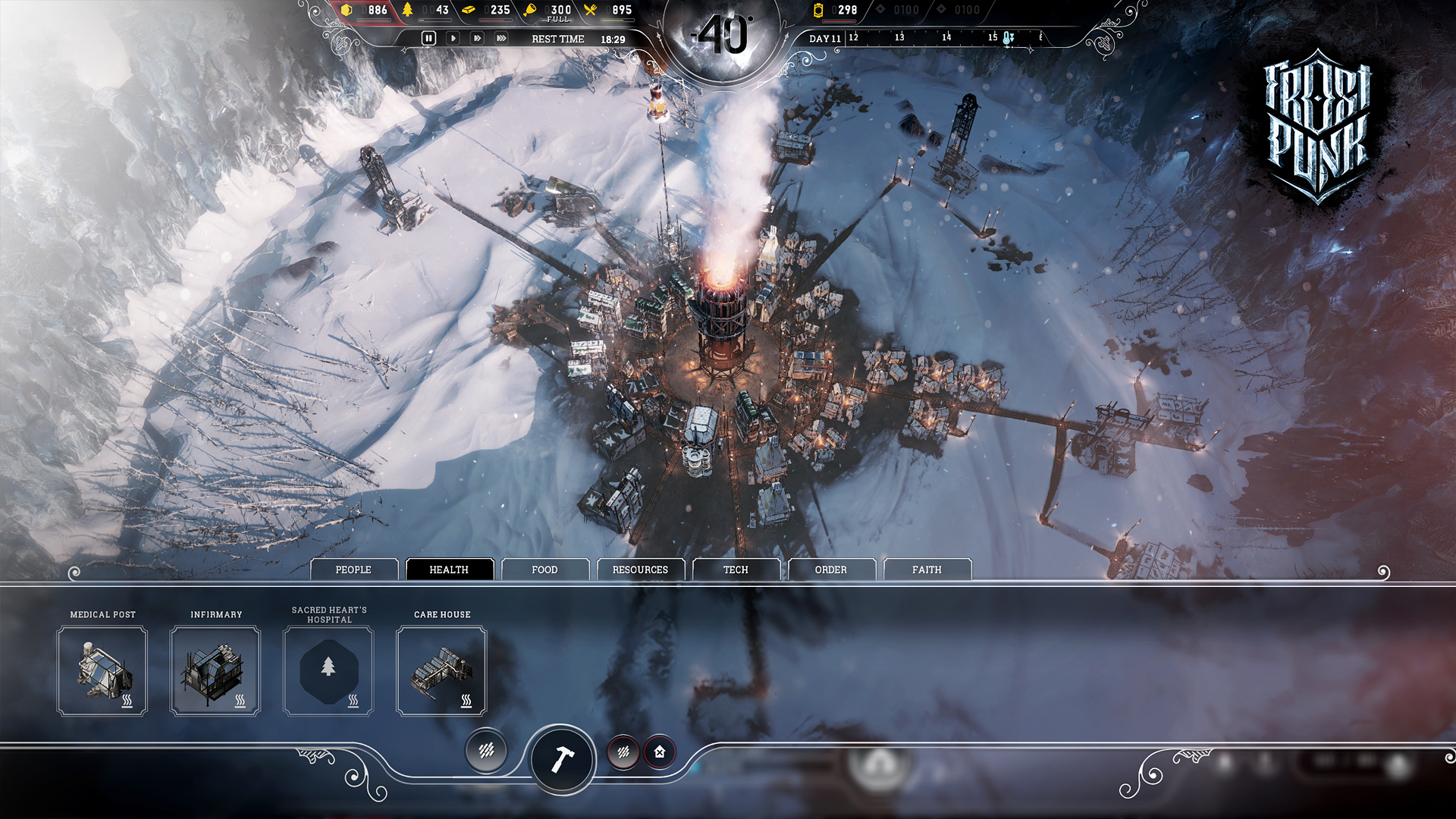Frostpunk 2018 Game Wallpapers: City-building Survival Game Frostpunk Out By The End Of