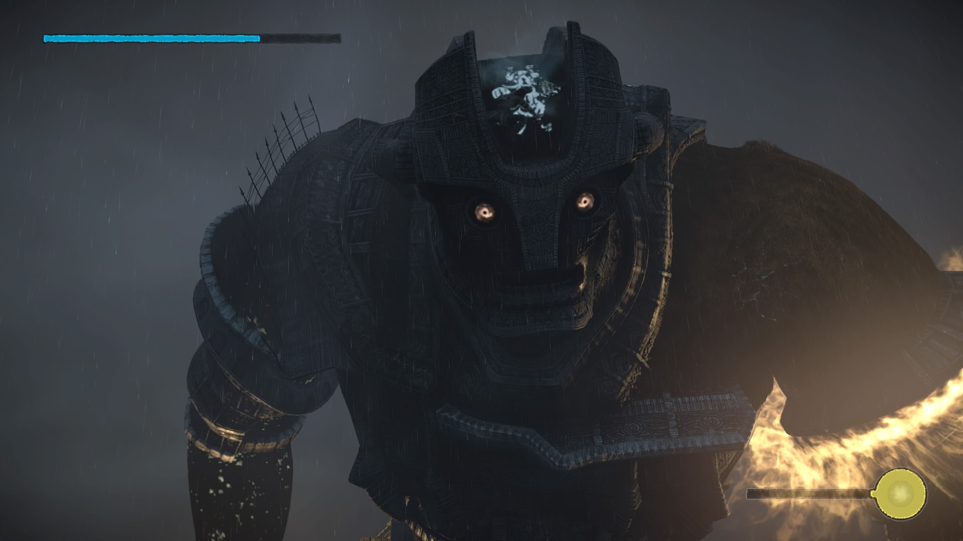 The Colossus Will Shake A Bunch When Youre On Its Head So If Running Low Grip Meter You Can Move Back Down To Shoulders Recover Bit
