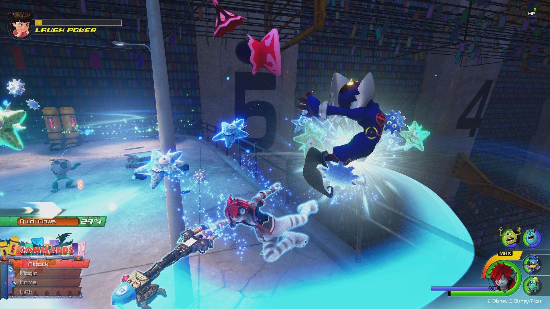 Kingdom Hearts III - Monsters Inc  screenshots and character art