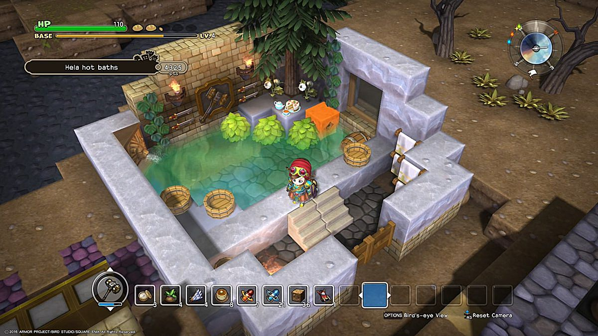 Dragon quest builders building the spectacular spa in chapter 3 once you gather what you need to make the cake making the tea service item should be a cinch malvernweather