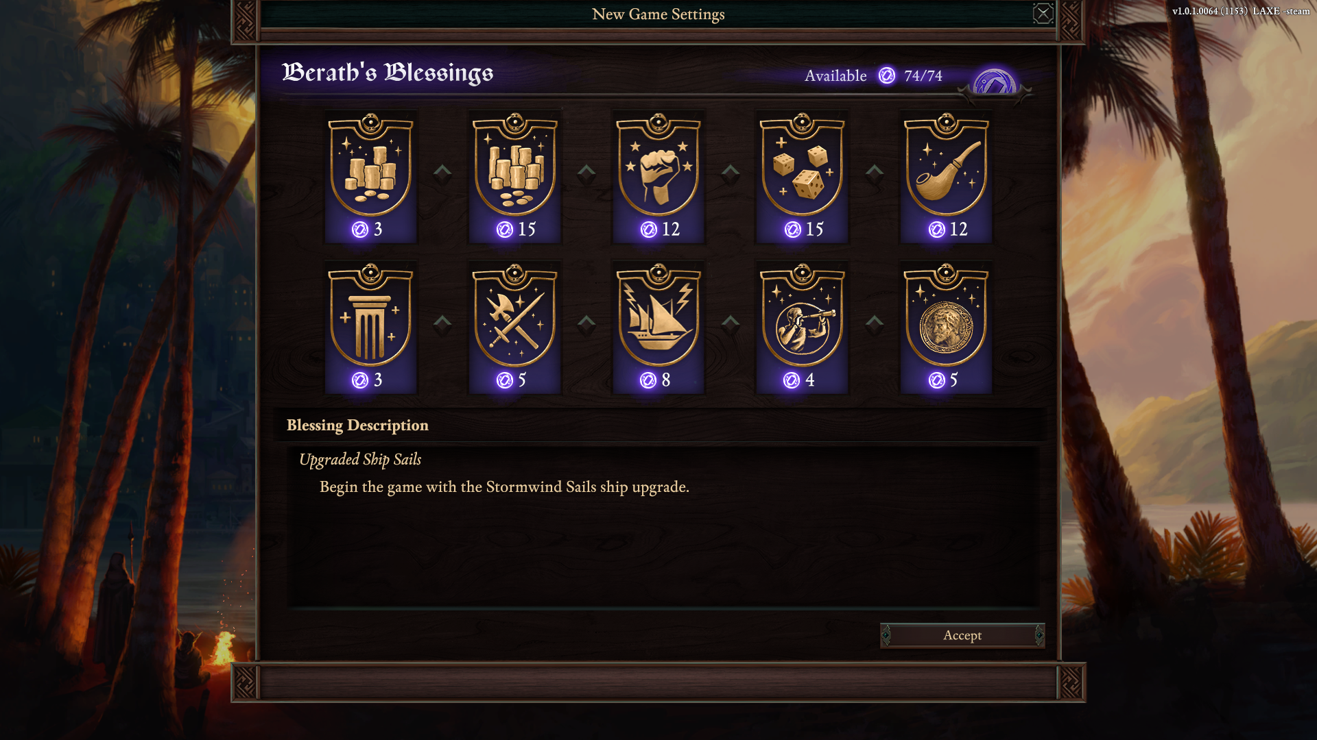 Pillars of Eternity II: Deadfire Blessings and Achievements