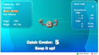 Pokemon lets go catch combo combos