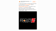 Project z tease tweet