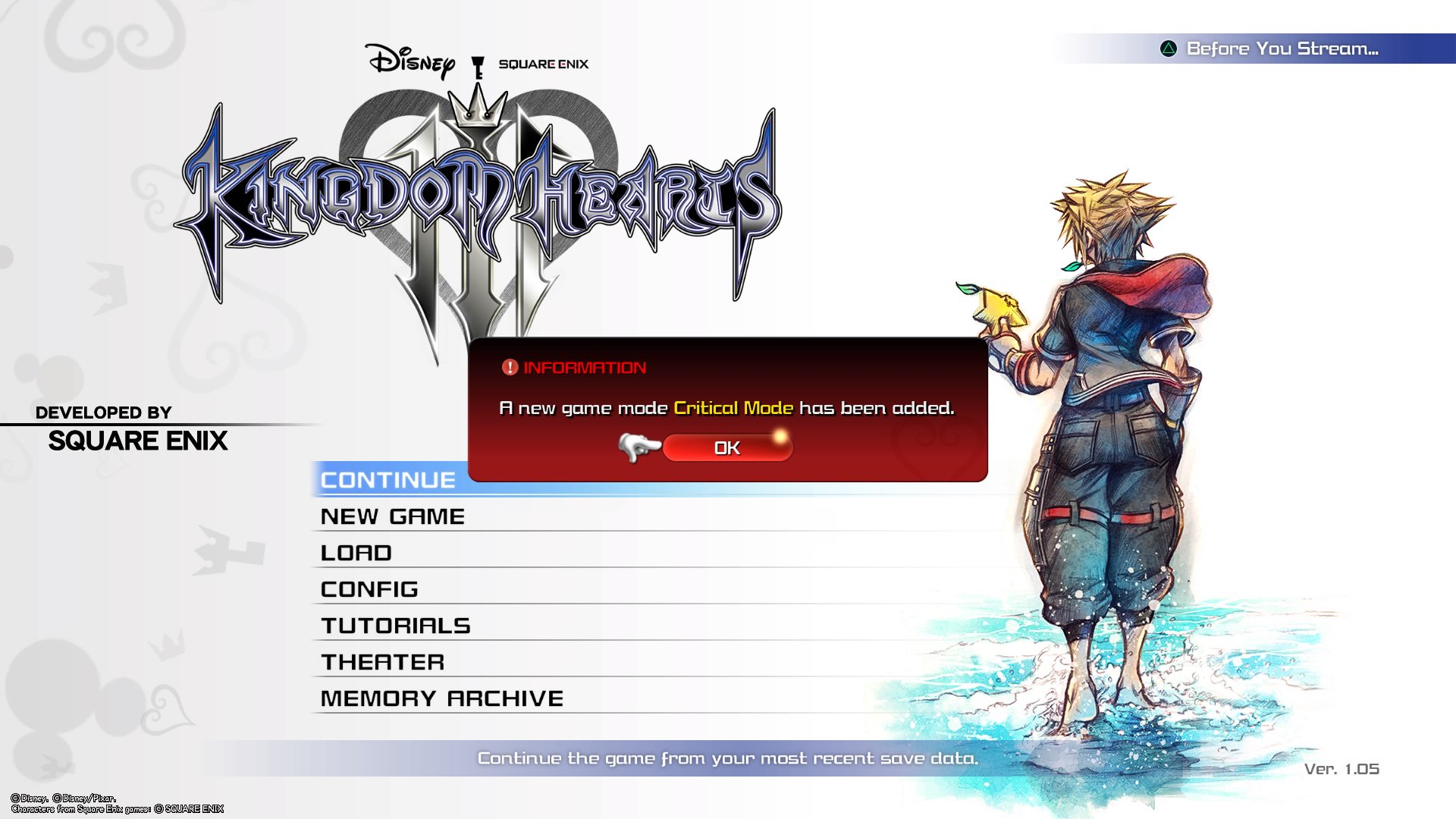 Kingdom Hearts III Critical Mode and New Game Plus updates