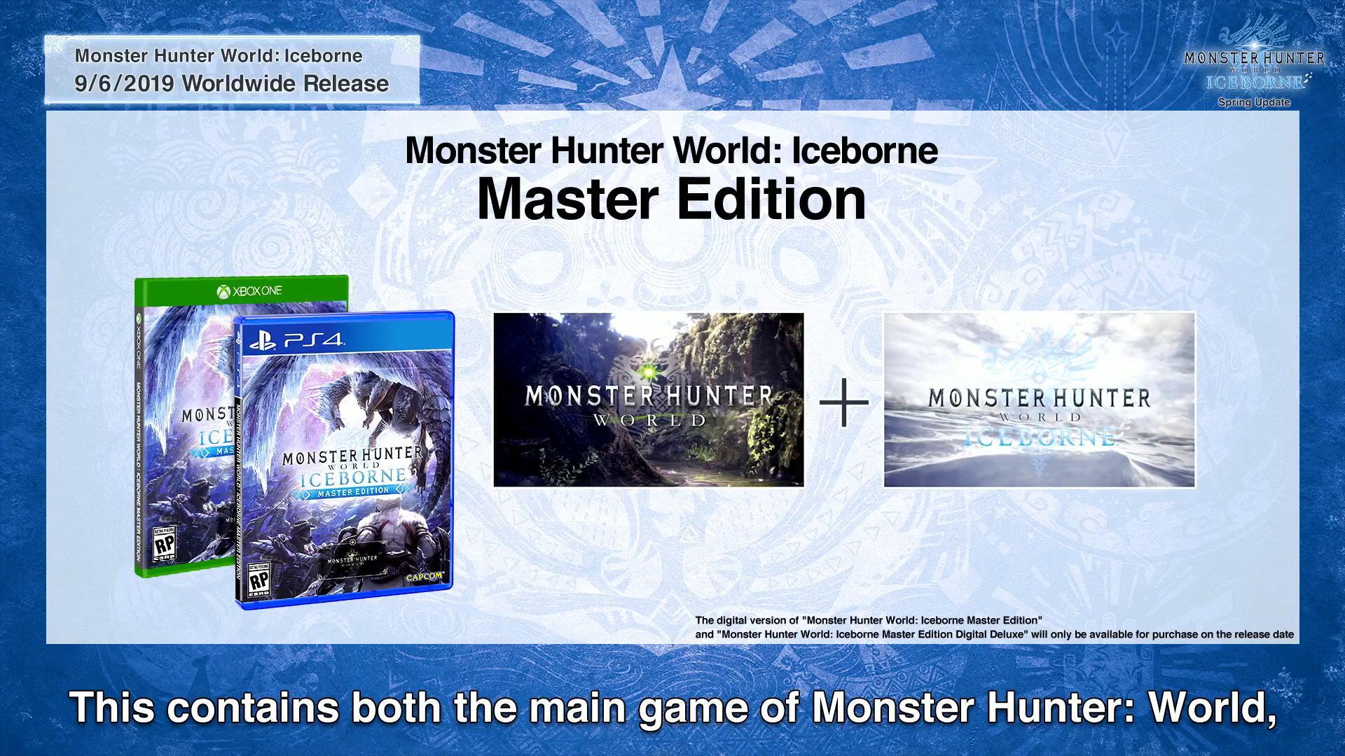 Monster Hunter World: Iceborne launches on September 6 for