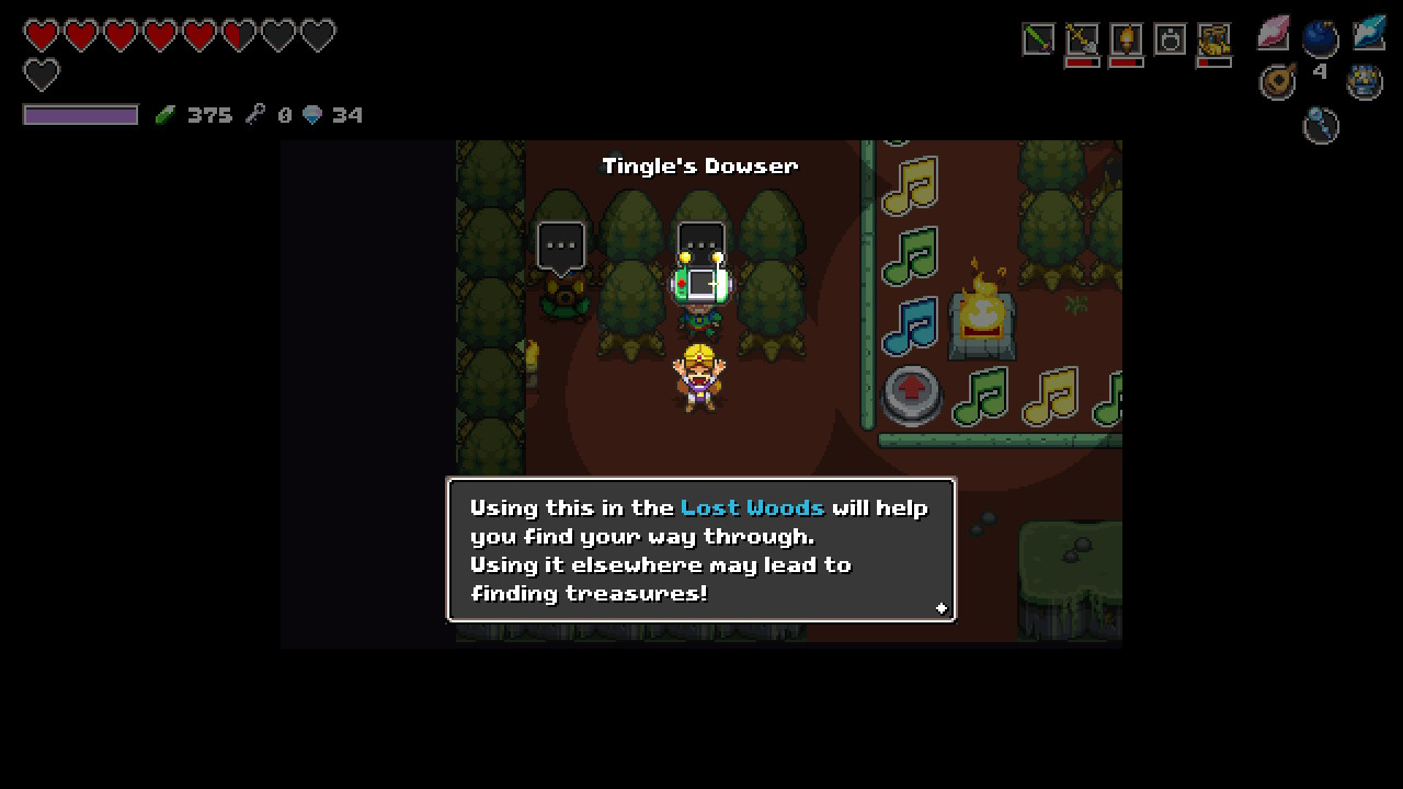 Cadence of Hyrule Lost Woods guide: using the Tingle Dowser