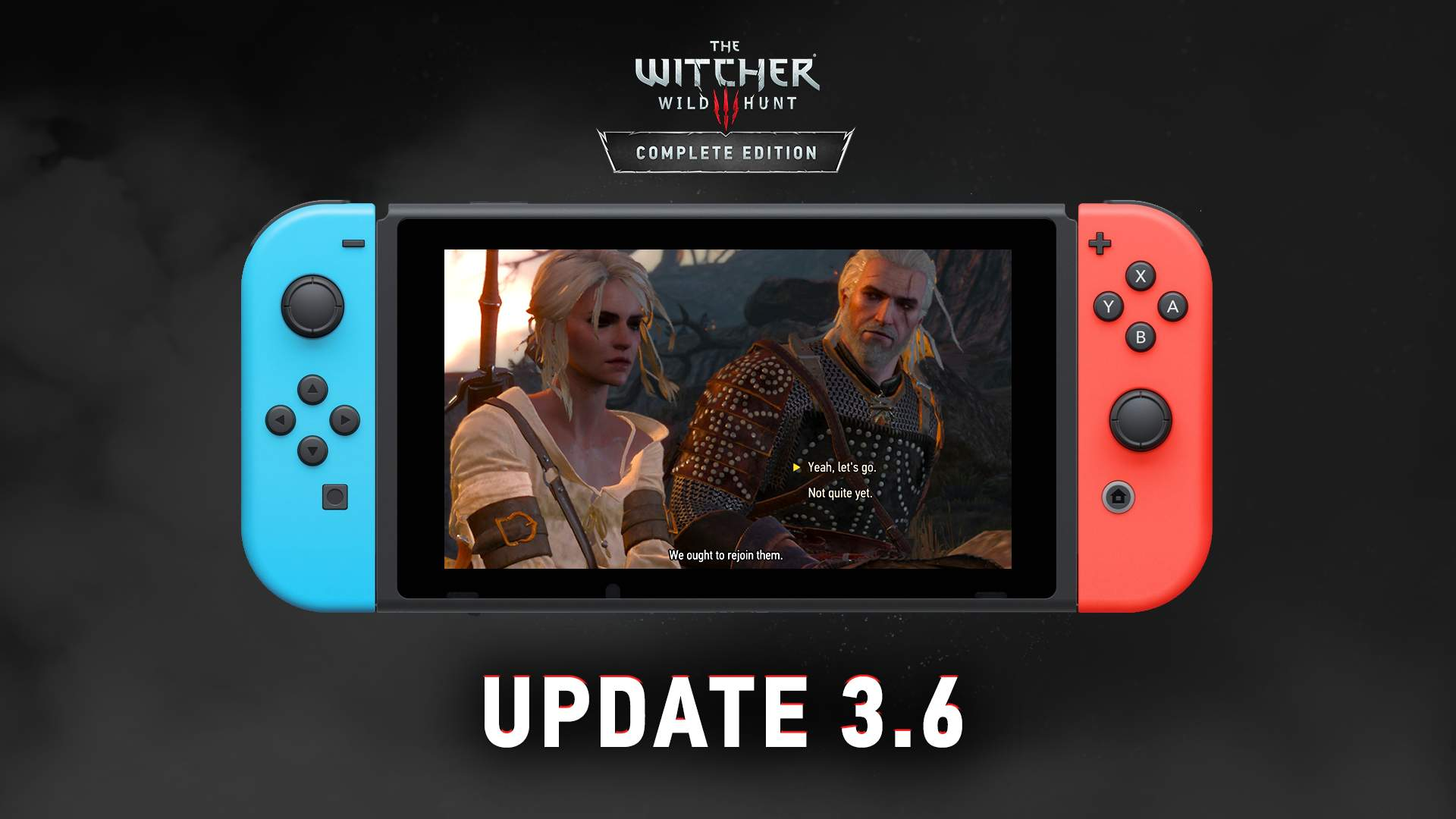 The Witcher 3 Switch update adds PC cross-save and improved graphics