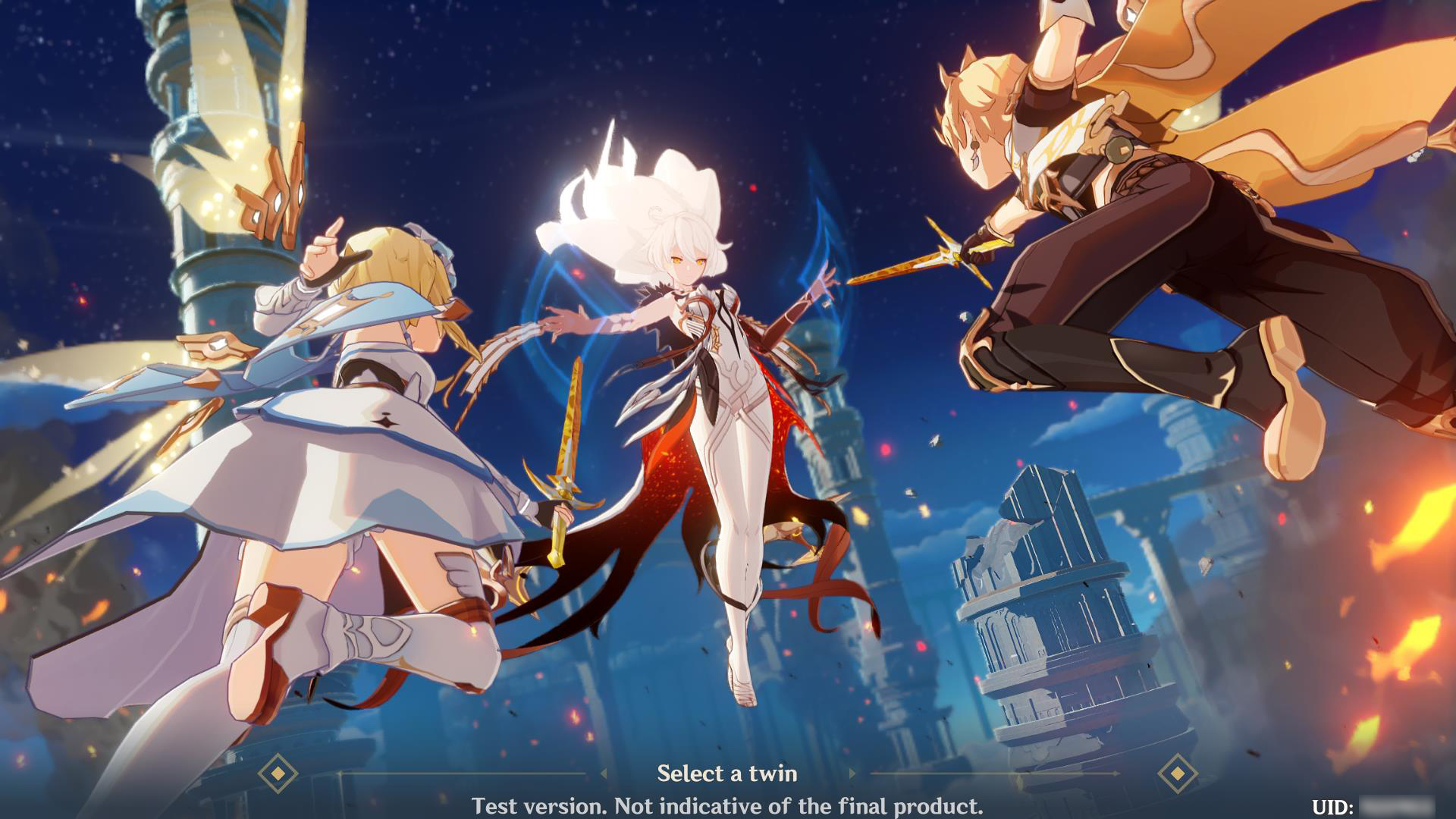 Genshin Impact Character select