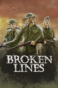 Broken lines vert art