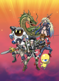 Collection of saga final fantasy legend vert art