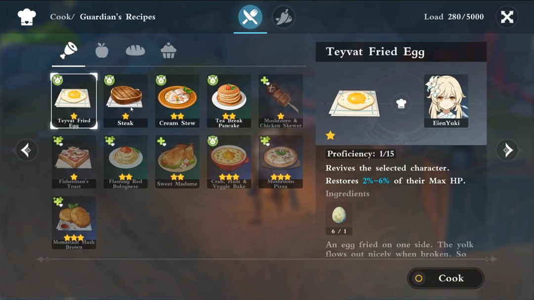 Genshin Impact Cooking Guide Recipe Locations Ingredients And Character Specialty Dishes Rpg Site