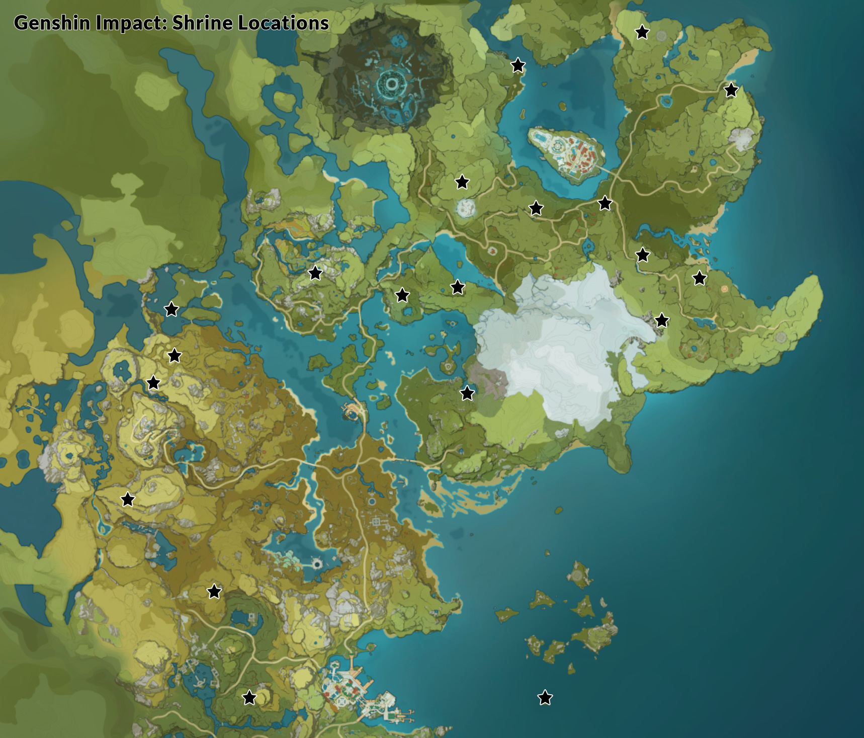 Genshin Impact Shrine Locations All Shrine Of Depths Mapped Plus How To Open Them Rpg Site